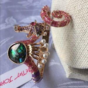 Betsey Johnson Seahorse Bracelet, NWT
